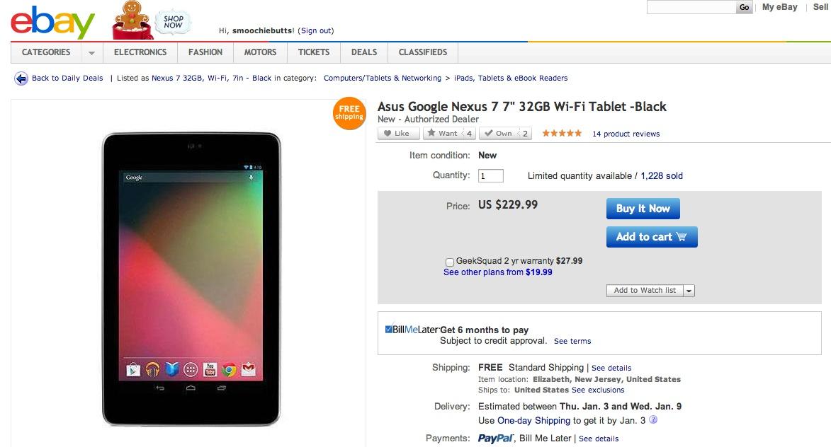 Nexus 7 32gb deals 2018
