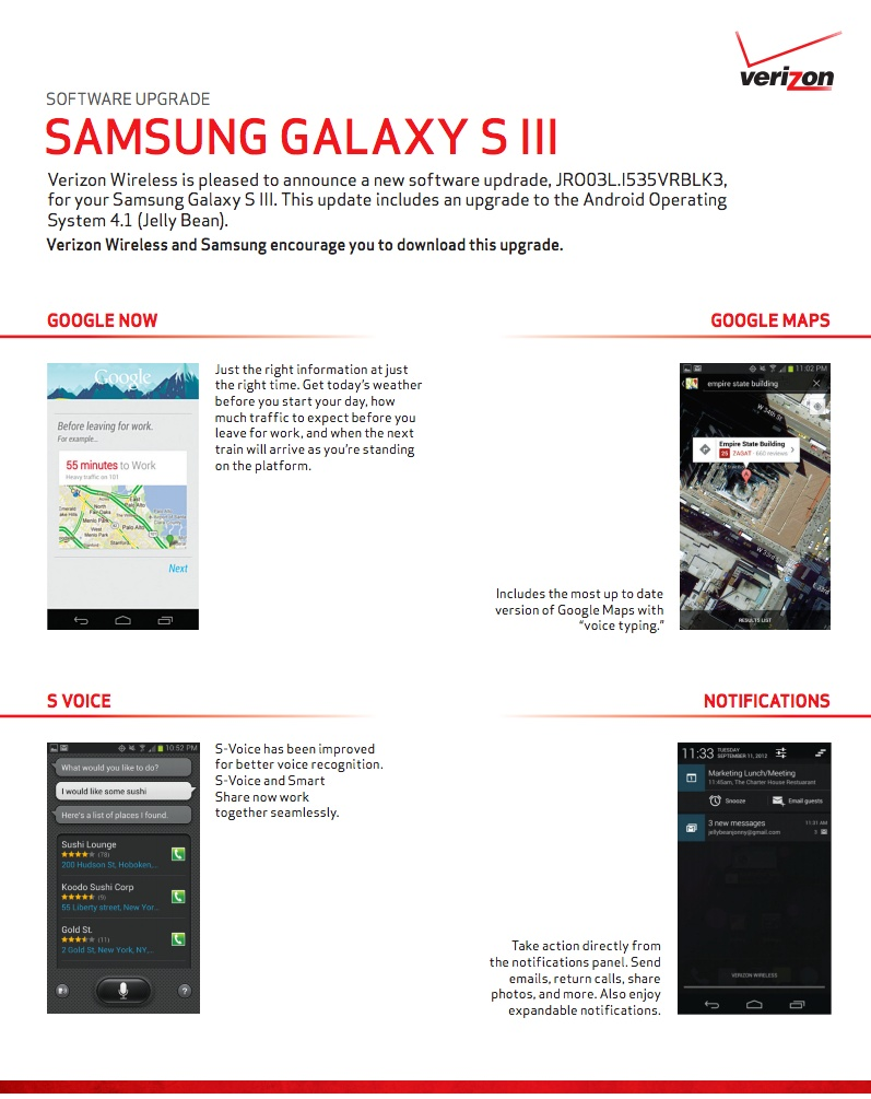 Verizon Approves Jelly Bean Update for Galaxy S3, Likely