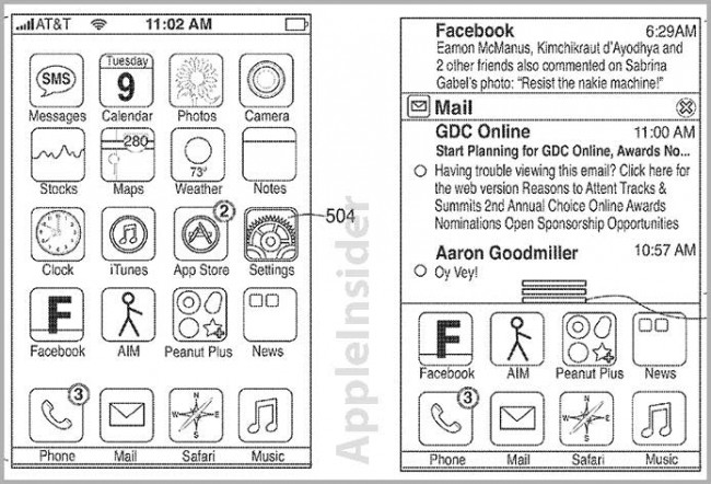apple notificatino patent