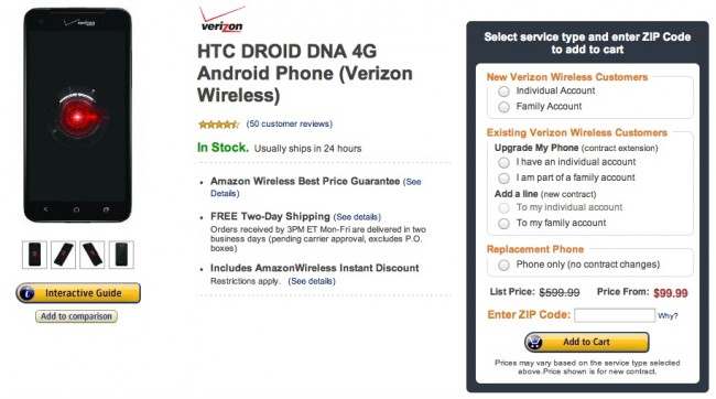 droid dna amazon