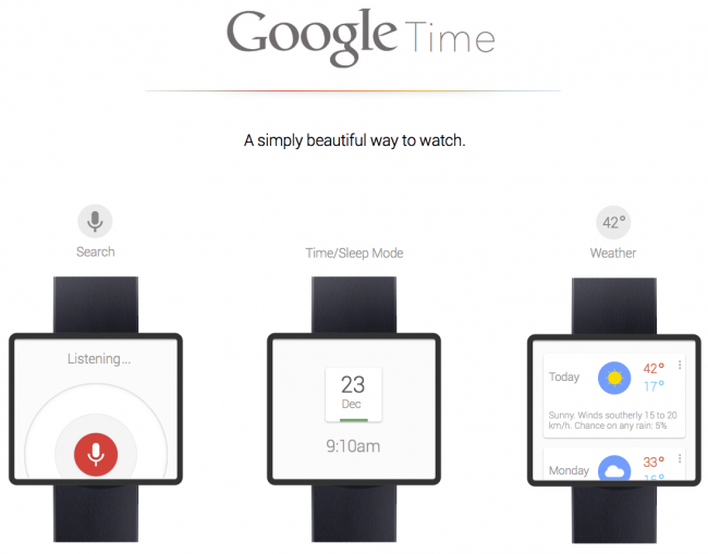 Google Now Smart Watch