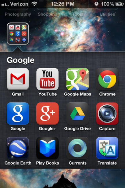 Google Apps on iOS