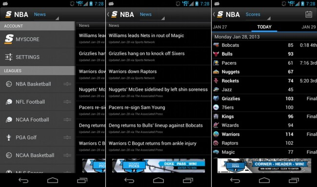 score mobile android