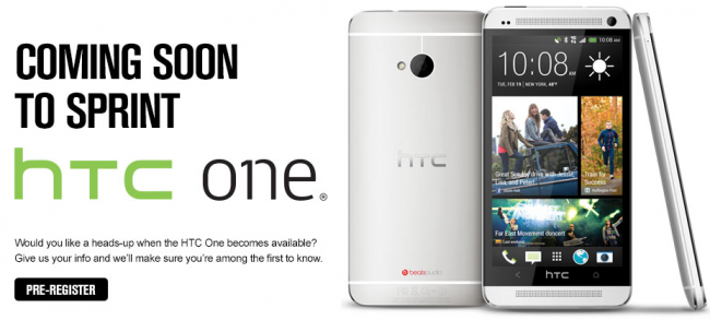 HTC One signup