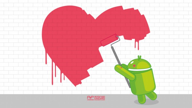 android valentines wall