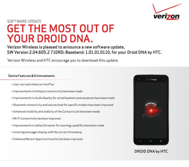 droid dna update