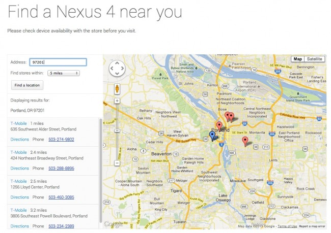 nexus 4 finder