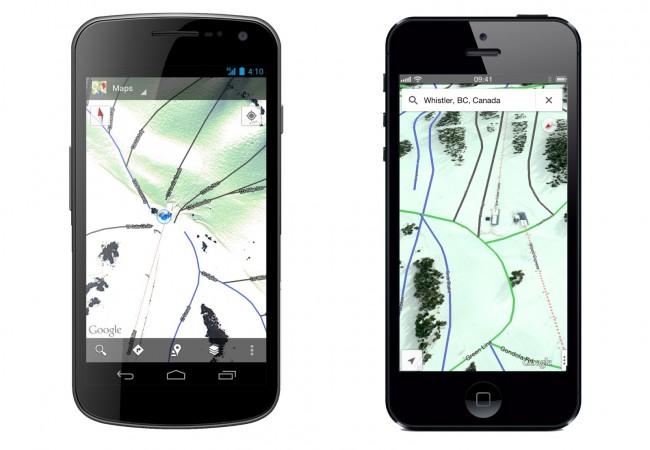 ski resorts google maps
