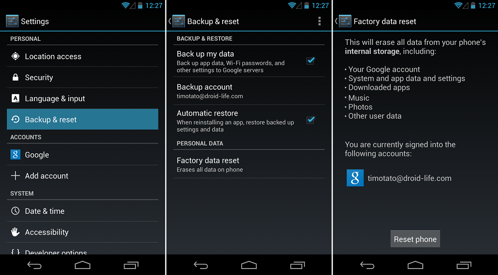 How to: Factory Reset Your Phone [Beginners' Guide] – Droid Life
