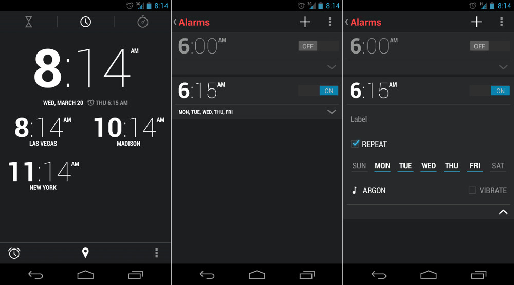 Alarm clock android