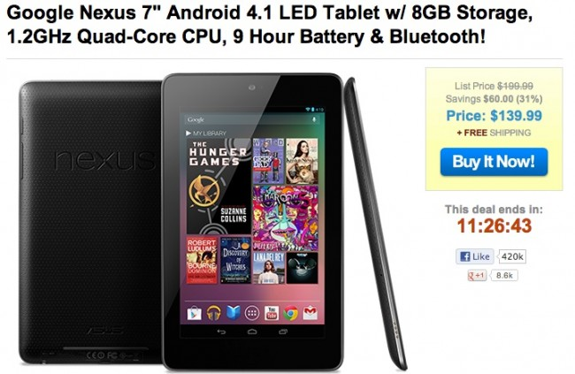 cheap nexus 7
