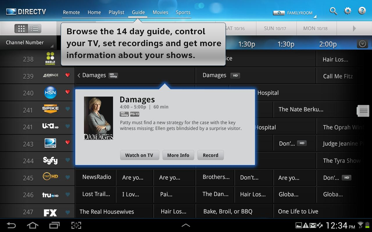 Directv Releases Tablet App For Android Droid Life