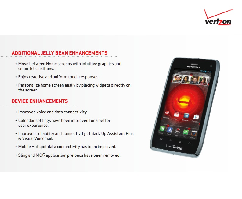 Verizon Wireless Droid 4 finally getting Jelly Bean update ...