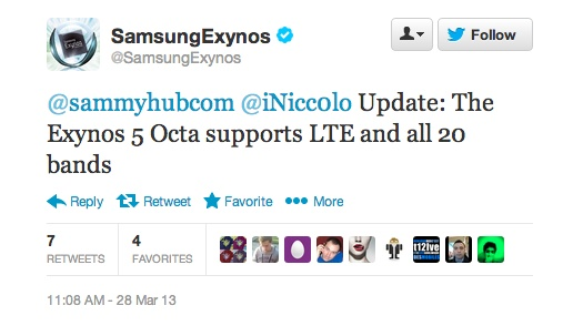 exynos lte bands