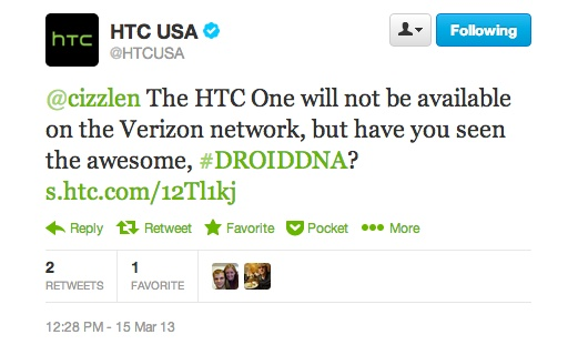 htc one not verizon