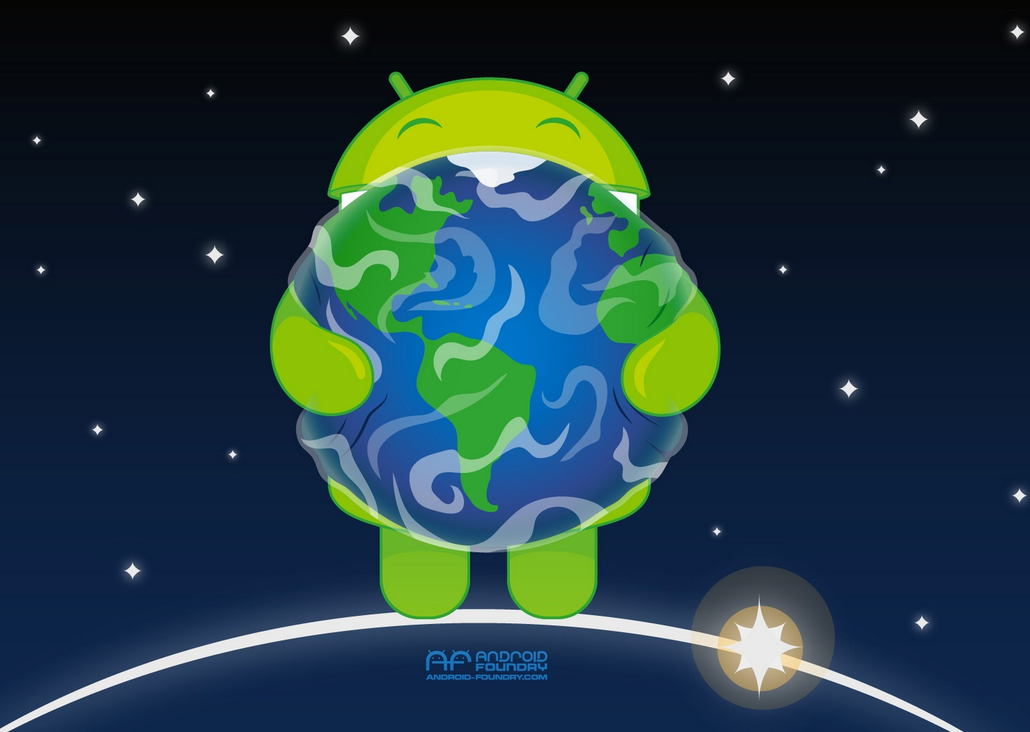 It android style, if you so choose. this wallpaper should help