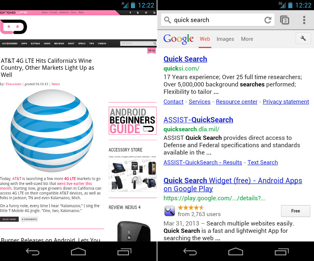 Chrome Beta Update Introduces Fullscreen Browsing, Simpler Searches