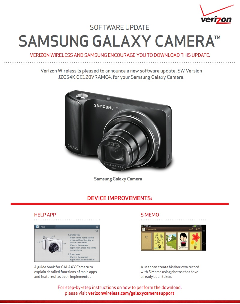 update for verizon s galaxy camera introduces new smart modes