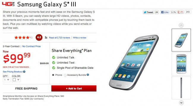 galaxy s3 price
