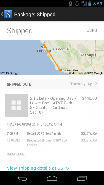 google now real time tracking