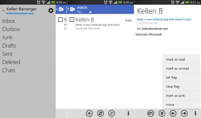 new outlook android