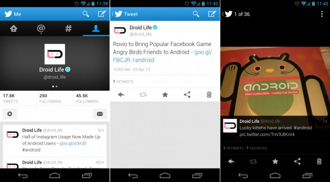 new twitter android