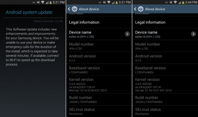Sprint Samsung Galaxy S4 Receives First OTA Update – Droid ...