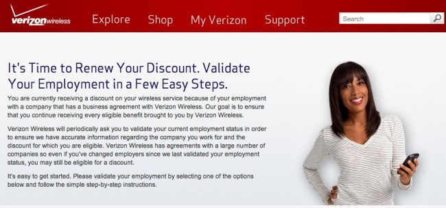 verizon emp discount
