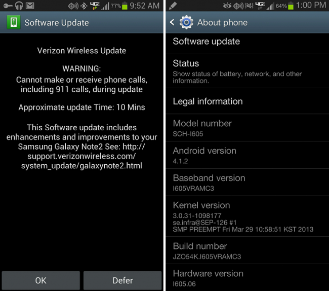 Galaxy Note 2 Update