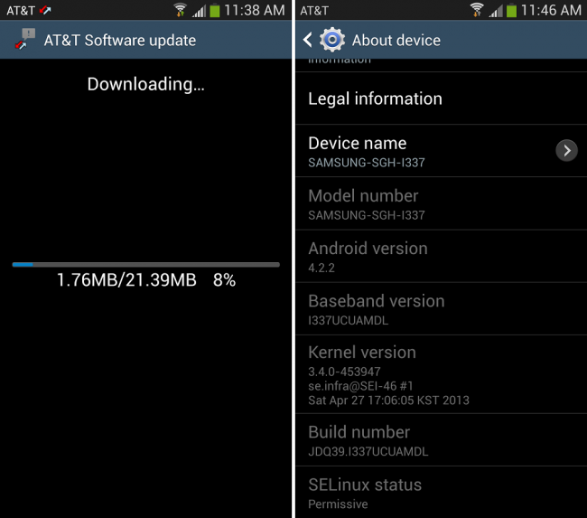 Galaxy S4 Update 2