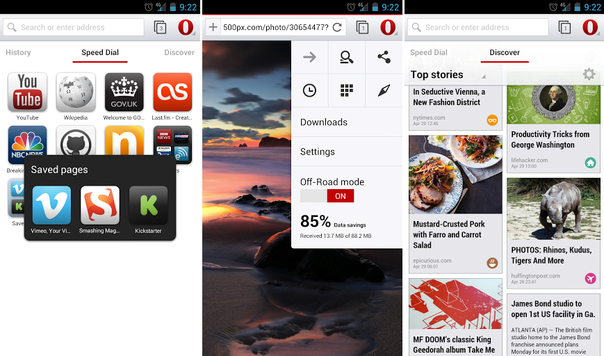 Full Version of Opera Released for Android, Features Speed