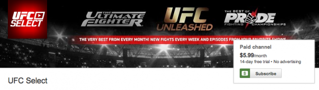 ufc paid yotube