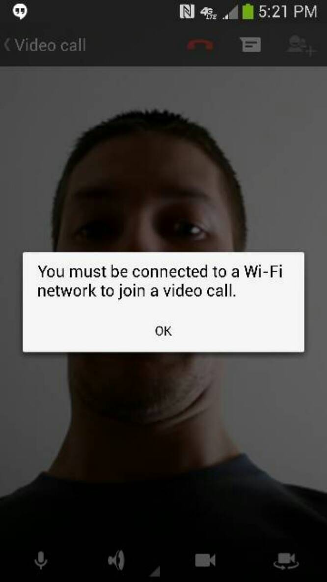 AT&T Blocking Video Calls Through Google Hangouts Over Mobile Data