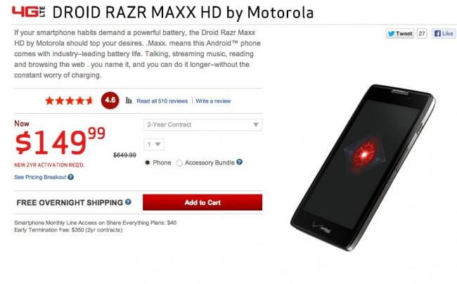 razr maxx deal