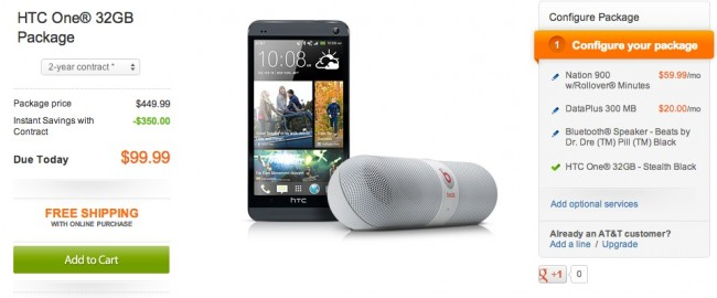 [Deal] HTC One 32GB Plus Beats Pill Speaker for $99 From AT&T - Droid Life