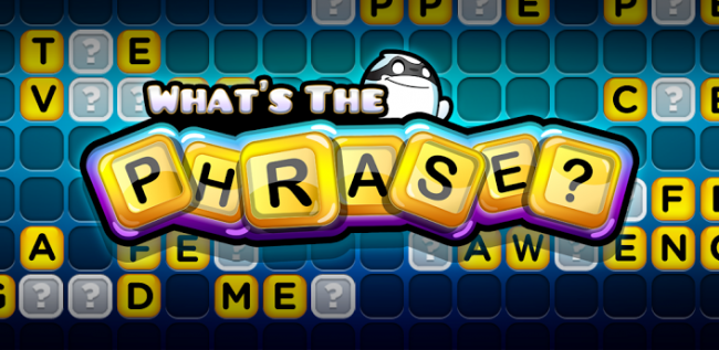 Zynga Released What's the Phrase Onto Google Play Last Month, Seems Pretty Fun