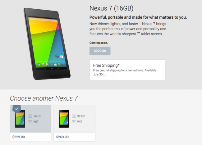 Nexus 7 Google Play