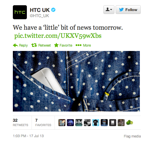 HTC Twitter One Mini