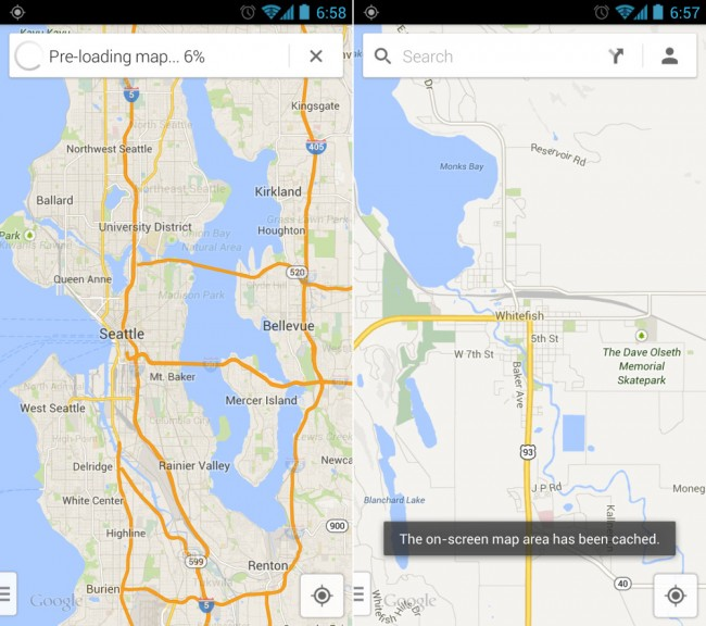 Fyi Offline Maps Saved By Typing Ok Maps In Google Maps