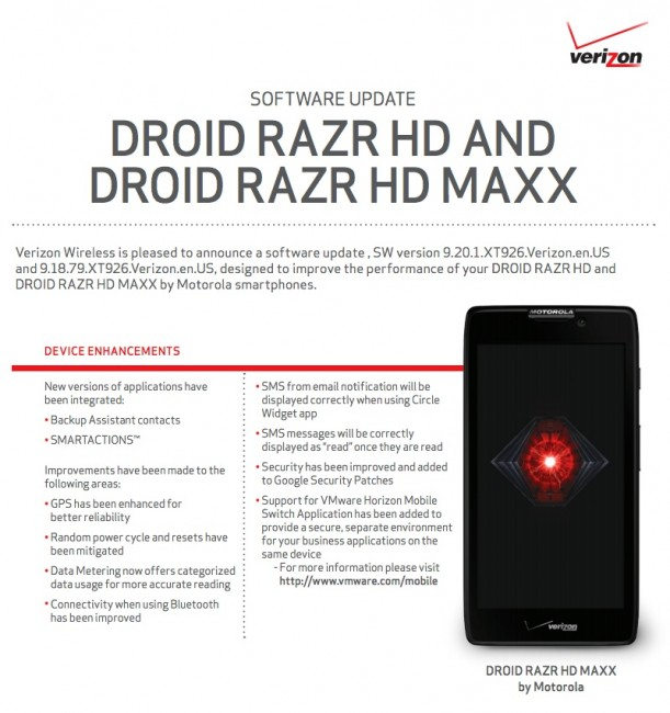 razr hd update