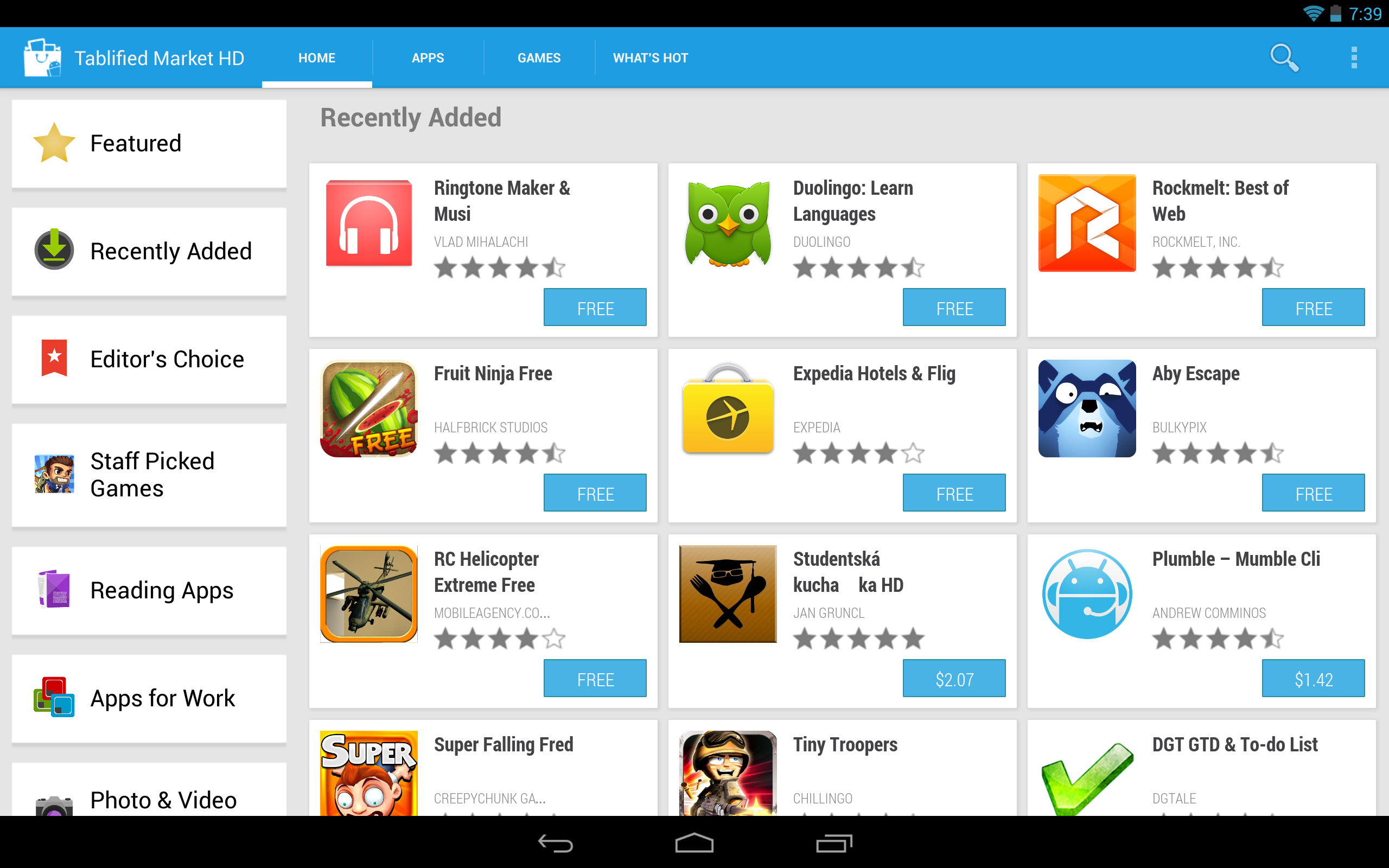good tablet apps
