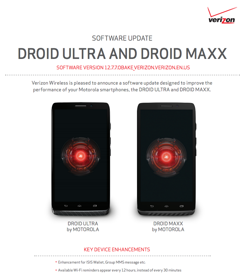 innovative design e6b46 6d653 DROID MAXX and ULTRA Receiving Update to 12.7.7 on First Boot, Here ...
