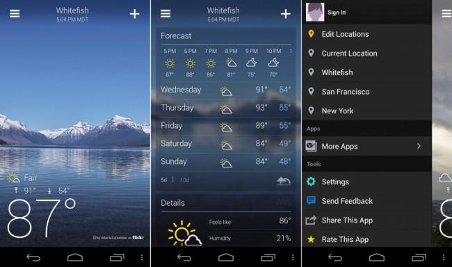 new yahoo weather