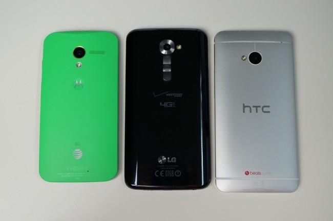 LG G2 MOTO X HTC ONE