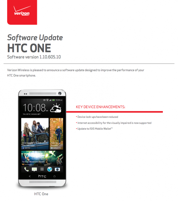 htc one update