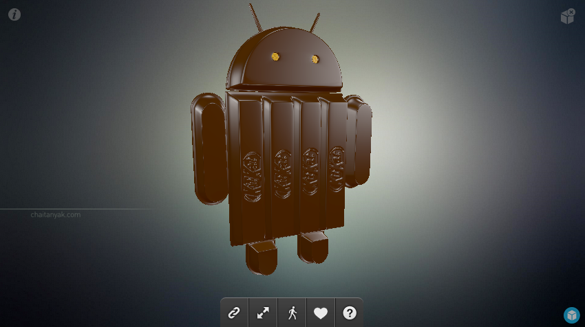 play with this cool 3d model of the android kit kat figure droid life