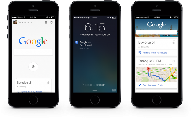ios google search