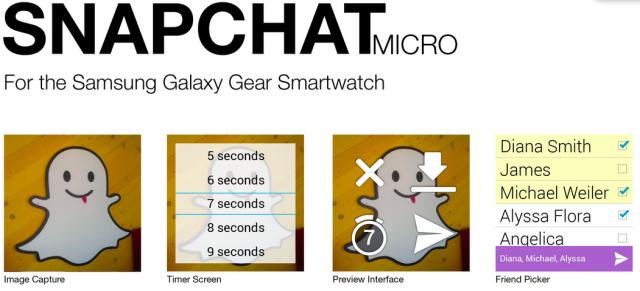 snapchat galaxy gear