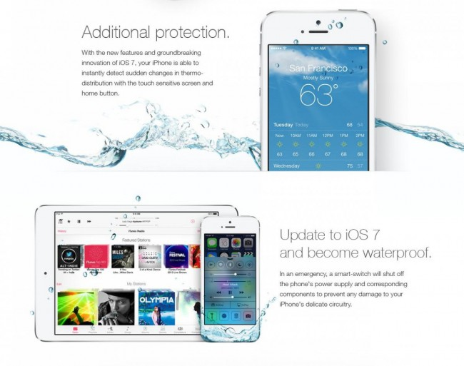 waterproof ios7
