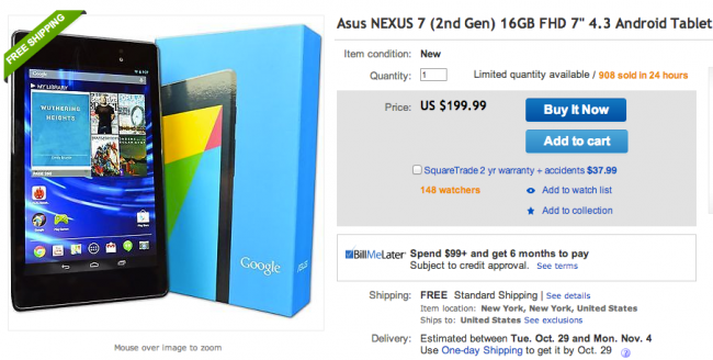 Nexus 7 eBay
